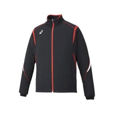アシックス 4549604796958 XAT143 トレーニングジャケット ブラツクxレツド サイズ:O