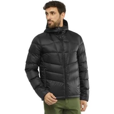 サロモン Salomon メンズ ダウン・中綿ジャケット フード アウター Transition Down Hooded Jacket Black