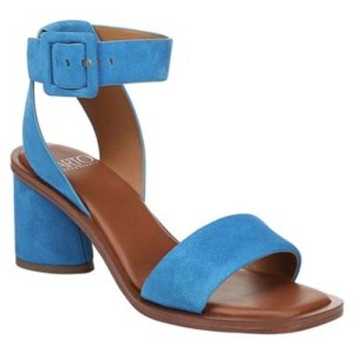 サルトバイフランコサルト レディース サンダル シューズ Risa Ankle Strap Sandal Blue Jewel Kid Suede