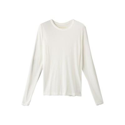 Curensology カレンソロジー 5AWロングSLTシャツ レディース ホワイト F