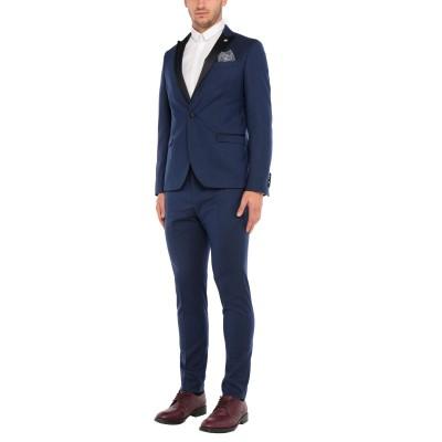 マニュエル リッツ MANUEL RITZ スーツ ブライトブルー 52 ポリエステル 77% / レーヨン 21% / ポリウレタン 2% スーツ