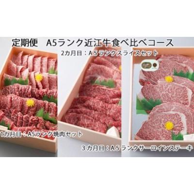 定期便 A5ランク近江牛食べ比べコース[高島屋選定品]
