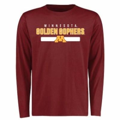 Fanatics Branded ファナティクス ブランド スポーツ用品  Minnesota Golden Gophers Maroon Team Strong Long Sleeve