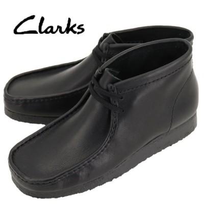 クラークス オリジナルズ CLARKS ORIGINALS メンズ レザー ワラビーブーツ WALLABEE BOOT 26103666 BLACK LEATHER(ブラック)