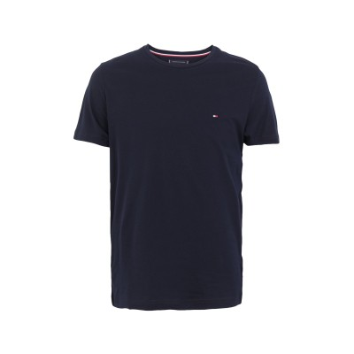 YOOX - トミーヒルフィガー TOMMY HILFIGER T シャツ ダークブルー S オーガニックコットン 100% T シャツ