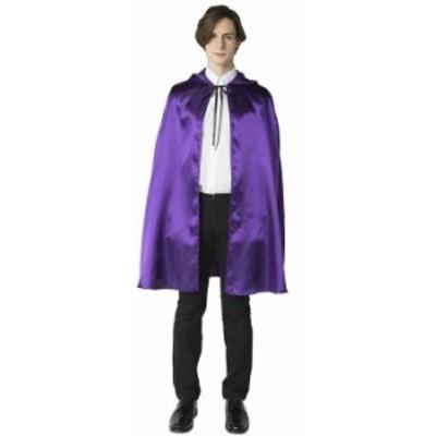 ハロウィン 仮装 大人 コスプレ 衣装 レディース メンズ パープルマント マント フード シンプル ユニセックス 可愛い コスチューム