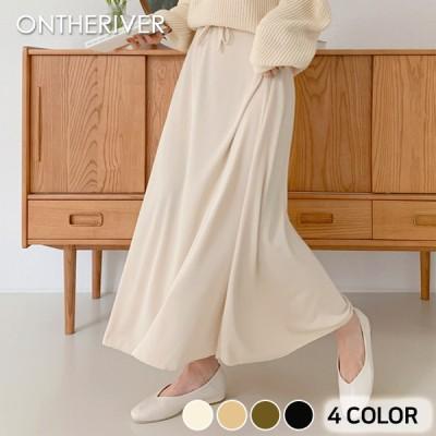 115634デイテンショニングフレアバンディングロングスカート[ontheriver] 送料0円! 大人可愛いデイリールック。韓国ファッションNo.1