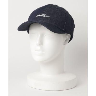MEN'S BIGI / 刺繍 デニムキャップ MEN 帽子 > キャップ