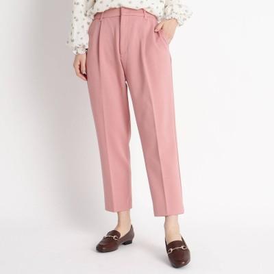 グローブ grove 【WEB限定】選べる着丈!短めレングス【My Best Pants】カットテーパードパンツ (ベビーピンク)