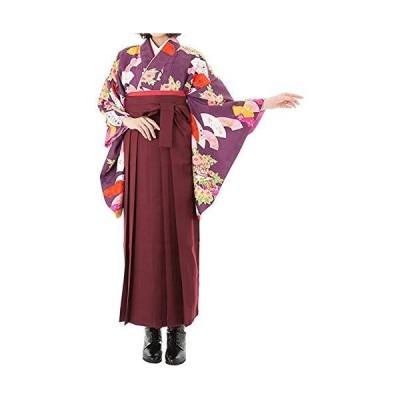 [キョウエツ] 袴セット 卒業式 ひさかたろまん HN-25-48 4点セット(二尺袖着物、袴、袴下帯、襦袢) レディース (袴 S, HN