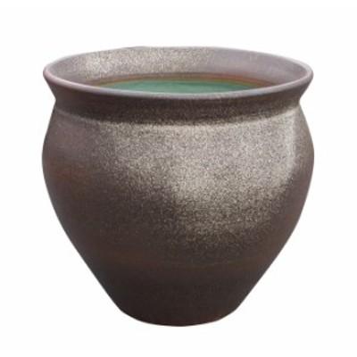 壷型窯肌水鉢 20号   信楽焼 睡蓮鉢 めだか鉢 水鉢 金魚鉢 メダカ鉢 ビオトープづくりに 水連鉢