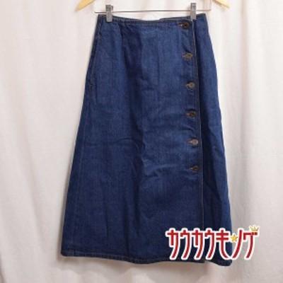 【中古】(良品) マウジー/MOUSSY BUTTON UP FLARE SKIRT デニム フレア スカート サイズ1 レディース 010BAS11-5380