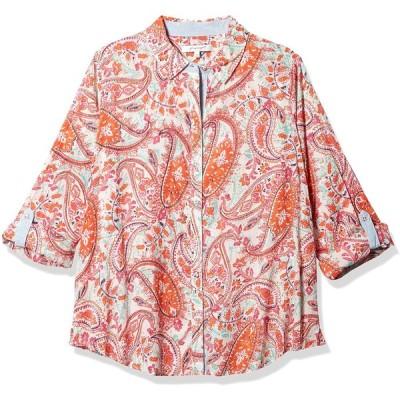 Foxcroft レディース Zoey サマーペイズリーシャツ US サイズ: 14
