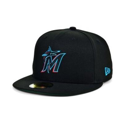 ニューエラ メンズ 帽子 アクセサリー Miami Marlins 2020 Opening Day 59FIFTY-FITTED Cap Black