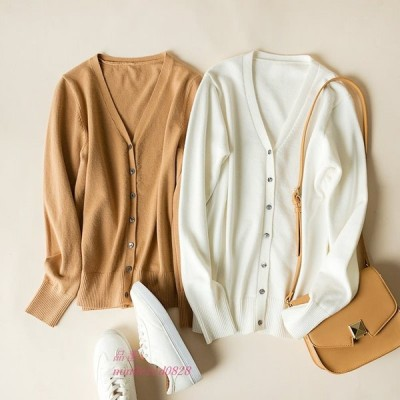 春と秋 ファッション 新しい快適な模造カシミヤ暖かい女性 セーター 小さなカーディガン女性 セータードロップシッピング グループ上 レディース衣服 から