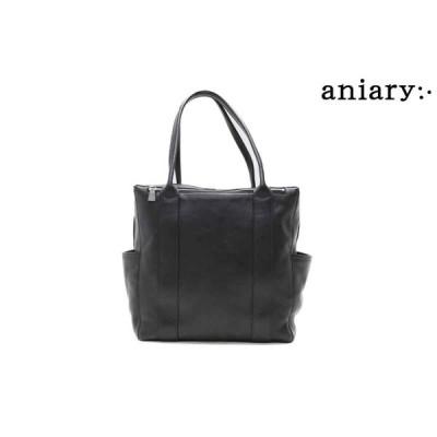 アニアリ / aniary バッグ 07-02006chgy シュリンクレザートートバッグ チャコールグレー 国産(日本製)