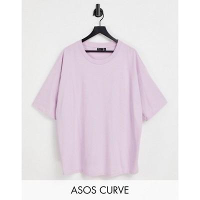 エイソス レディース シャツ トップス ASOS DESIGN Curve ultimate oversized t-shirt in orchid
