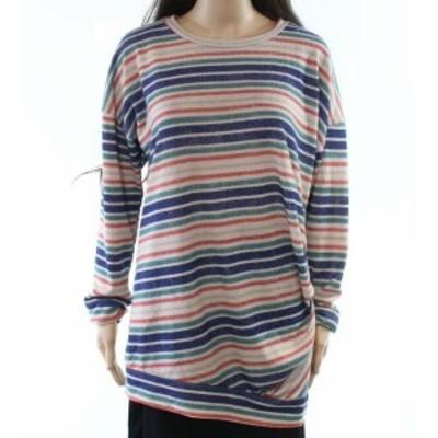 ファッション トップス First Love NEW Beige Size Large L Junior Striped Button-Detail Knit Top