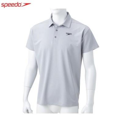 speedo / スピード ショートスリーブスタンダードドライポロシャツ ユニセックス スポーツウェア グレイ(SA41909)