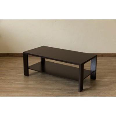 木目調センターテーブル/ローテーブル 〔幅100cm×奥行50cm〕 ウォールナット 収納棚付き 『KENNY』