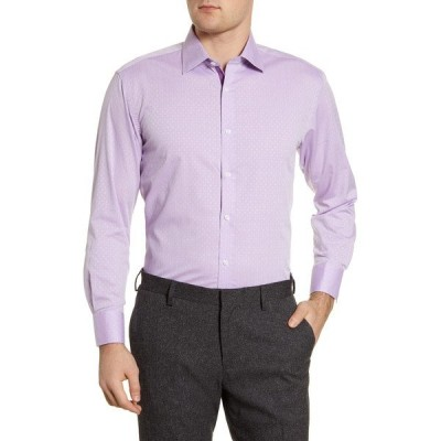 イングリッシュランドリー メンズ シャツ トップス Regular Fit Geometric Dress Shirt PU