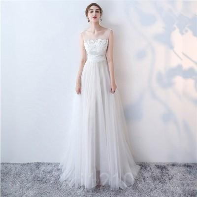 ウエディングドレス大きいサイズ結婚式花嫁二次会ドレス軽量/海外挙式ウェディングドレスパーティードレスファスナードレス