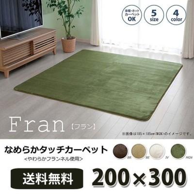 ラグマット カーペット おしゃれ 北欧 長方形 床暖対応 200×300