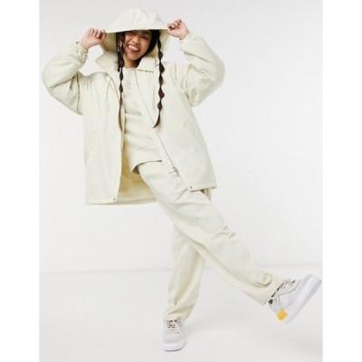 ウィークデイ レディース ジャケット・ブルゾン アウター Weekday Byron jacket with detatchable hood in cream