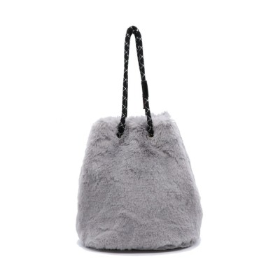 Bonjour Sagan / 【ポートジュール】エコファー 巾着バッグ 2WAYバッグ ショルダー ハンドバッグ WOMEN バッグ > トートバッグ