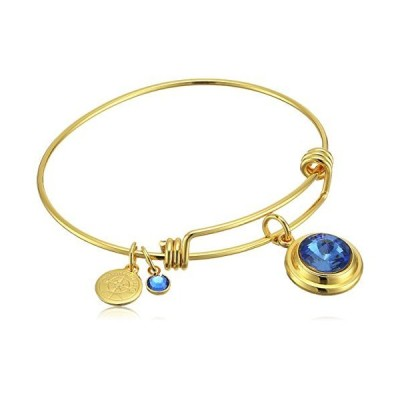 Halos & Glories, September Crystal Shiny Gold Bangle Bracelet並行輸入品 送料無料
