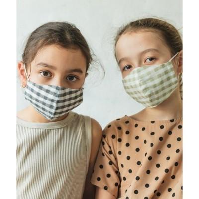 ユニセックス 総柄 抗菌防臭 マスク おしゃれ ドット チェック 花柄 2枚 セット