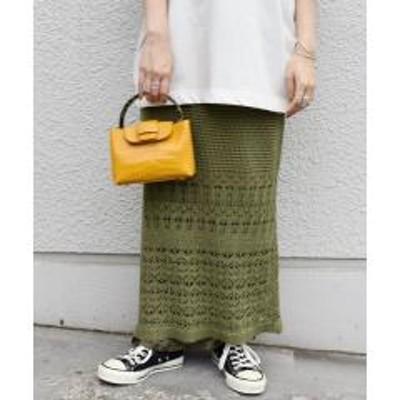 シップス【WEB限定】透かしレイヤードスカート◇【お取り寄せ商品】