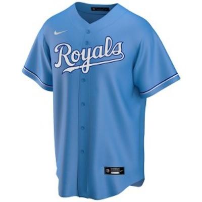ナイキ メンズ ユニフォーム トップス Men's Kansas City Royals Official Blank Replica Jersey LightBlue