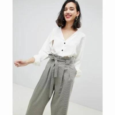 リバーアイランド ブラウス・シャツ batwing sleeve blouse with button front in white White