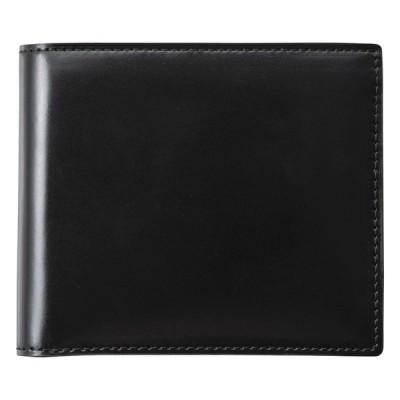 コードバン二つ折財布(ブラック) S-NOM153102BK 財布・小物