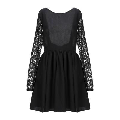 FRANCESCA & VERONICA FELEPPA ミニワンピース&ドレス ブラック 42 コットン 50% / ポリエステル 50% ミニワ