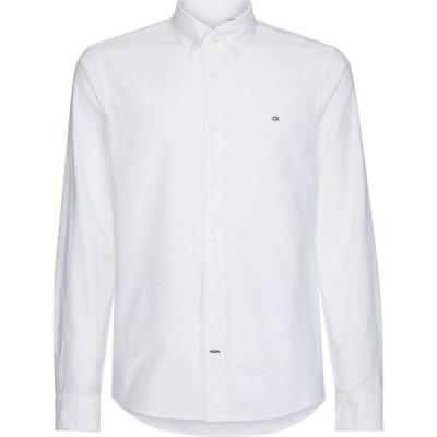 カルバン クライン Calvin Klein Menswear メンズ シャツ トップス Slim Fit Oxford Shirt White