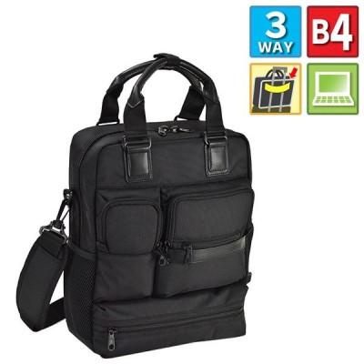 ビジネスバッグ ブリーフケース 3wayバッグ B4書類対応 ウレタン内装 PC・タブレット対応 キャリーバー通し 出張 通勤 黒 男性 おすすめ かっこいい 26647