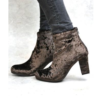 ZealMarket/SFW / 美脚効果抜群の7.5cmチャンキーヒール!シンプルで合わせやすく履いた時のシルエットがきれいなショートブーツ/TSD6471 WOMEN シューズ > ブーツ