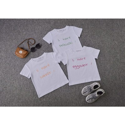 Tシャツ ベビー キッズ 大きいサイズ有 半袖 トップス カジュアル 野菜柄 ベジタブル柄 キャロット柄 カリフラワー柄 ナス柄 80 90 100