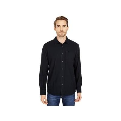 ボルコム Caden Solid Long Sleeve Button-Up メンズ シャツ トップス Black