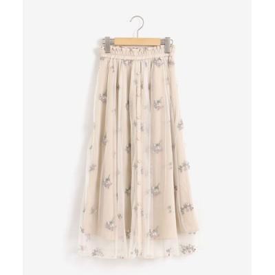 MAJESTIC LEGON / エンブロイダリーチュールスカート WOMEN スカート > スカート
