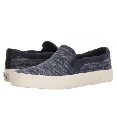 Frye フライ メンズ 男性用 シューズ 靴 スニーカー 運動靴 Ludlow Slip - Canvas Print - Navy Canvas