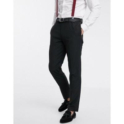 エイソス メンズ カジュアルパンツ ボトムス ASOS DESIGN slim tuxedo suit pants in black Black
