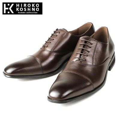 ヒロココシノ 本革 レザー ビジネスシューズ ストレートチップ 靴 メンズ HK128-220