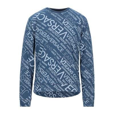 VERSACE JEANS スウェットシャツ ブルー XS コットン 97% / ポリウレタン 3% スウェットシャツ