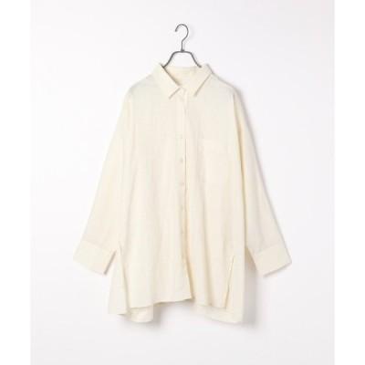 シャツ ブラウス リネンモモンガBIGシャツ 944776