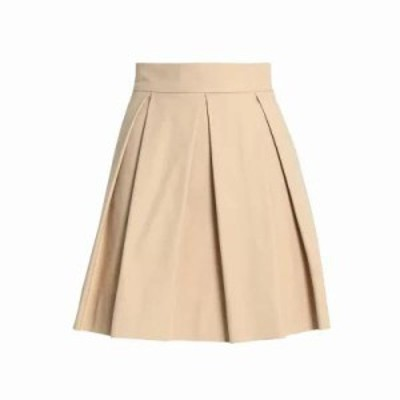 モスキーノ ミニスカート Cotton-blend mini skirt Sand