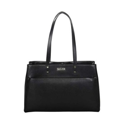 """Kenneth Cole Reaction Women's Downtown Darling Faux Leather Dual Compartment 15"""" Laptop Tote, Black 並行輸入品"""