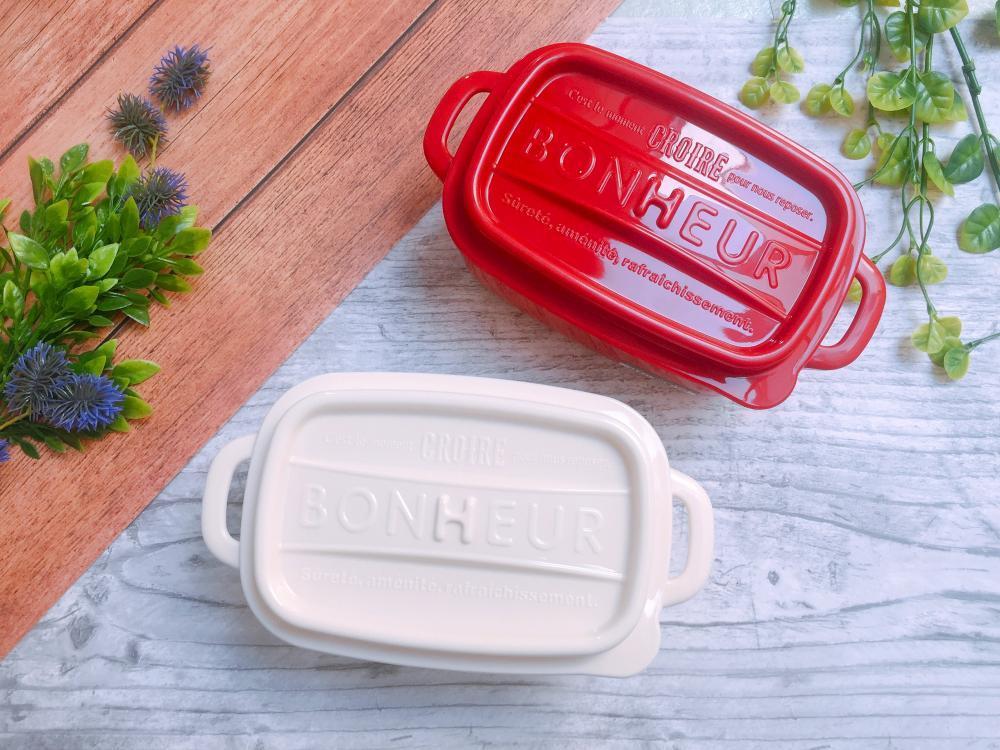 日本製鑄鐵鍋造型方形便當盒LL 440ml(隨機出貨)